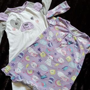 CARTER'S TODDLER GIRLS TWO SETS OF NIGHTGOWN
